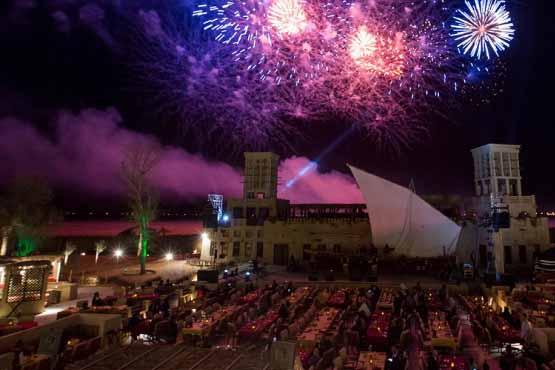 Firework at Qasr Al Sultan