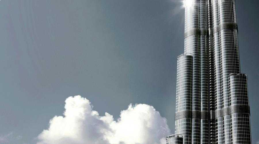 burj khalifa top view